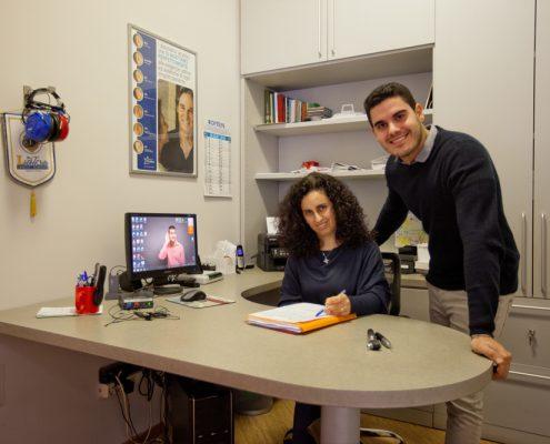 La Dott.ssa Daniela Antonacci e il Dott. Simone Campora al Centro Exaudio di Sanfruttuoso